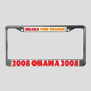 Obama Change License Plate Frame