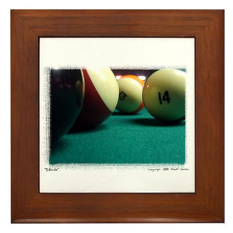 """""""Billiards"""" Framed Tile"""
