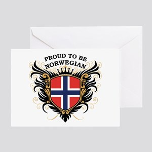 Proud to be Norwegian Greeting Card