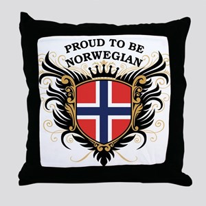 Proud to be Norwegian Throw Pillow