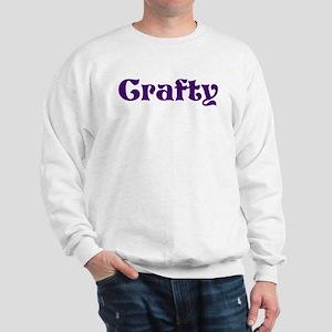 Crafty Purple Sweatshirt