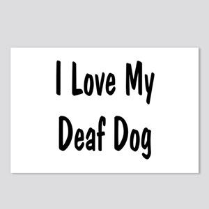 I Love My Deaf Dog Postcards (Package of 8)