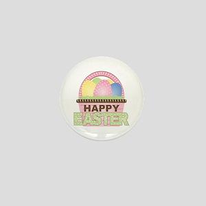 Happy Easter Basket Mini Button