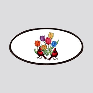 Tulips and Cardinals Patch
