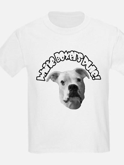 White Boxers Rule Kids T-Shirt
