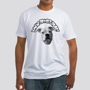 White Boxers Rule Fitted T-Shirt