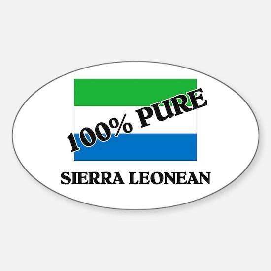 100 Percent SIERRA LEONEAN Oval Decal