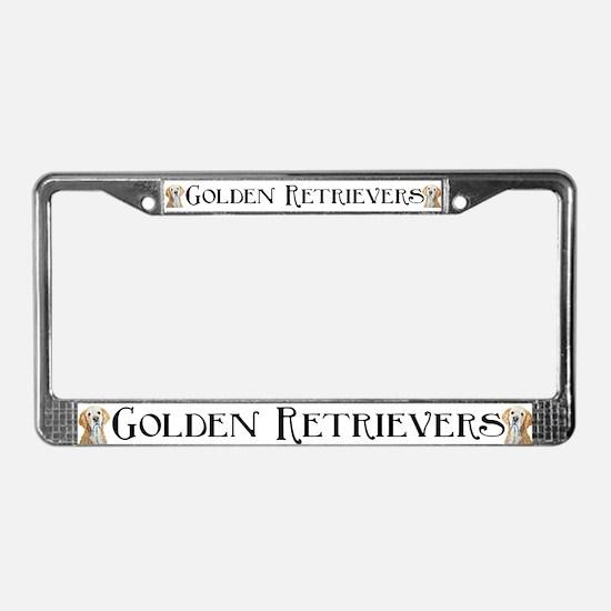 GOLDEN RETRIEVER AUTO PARTS! License Plate Frame