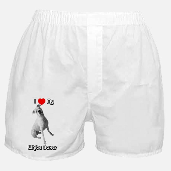 I Heart My White Boxer Boxer Shorts