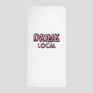 Drink Local Red Beach Towel