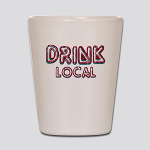 Drink Local Red Shot Glass