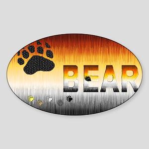 FURRY BEAR PRIDE FLAG/BEAR Oval Sticker