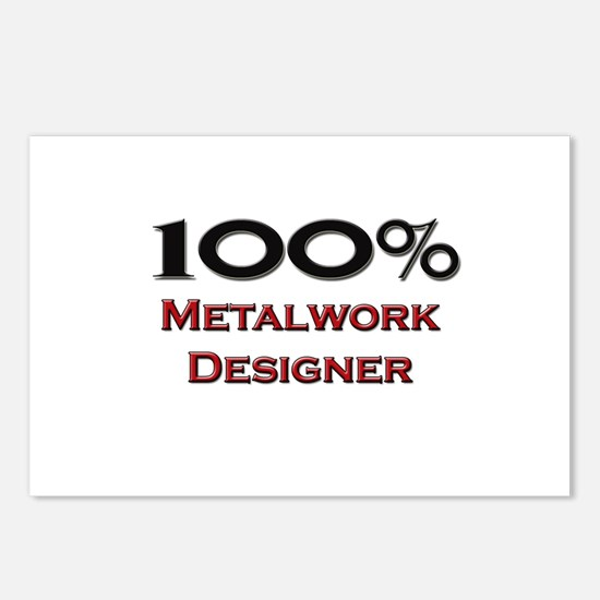 100 Percent Metalwork Designer Postcards (Package