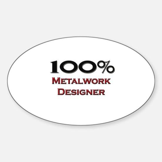 100 Percent Metalwork Designer Oval Decal