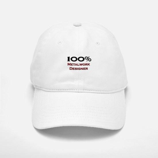100 Percent Metalwork Designer Baseball Baseball Cap
