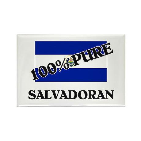 100 Percent SALVADORAN Rectangle Magnet