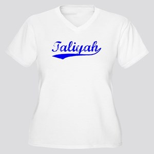 Vintage Taliyah (Blue) Women's Plus Size V-Neck T-