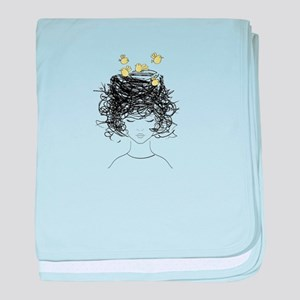 Bird's Nest Hair baby blanket