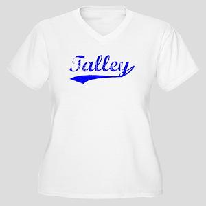 Vintage Talley (Blue) Women's Plus Size V-Neck T-S