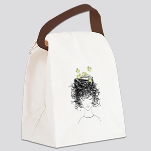 Bird's Nest Hair Canvas Lunch Bag