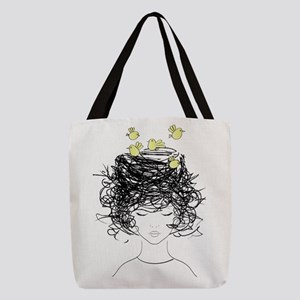 Bird's Nest Hair Polyester Tote Bag