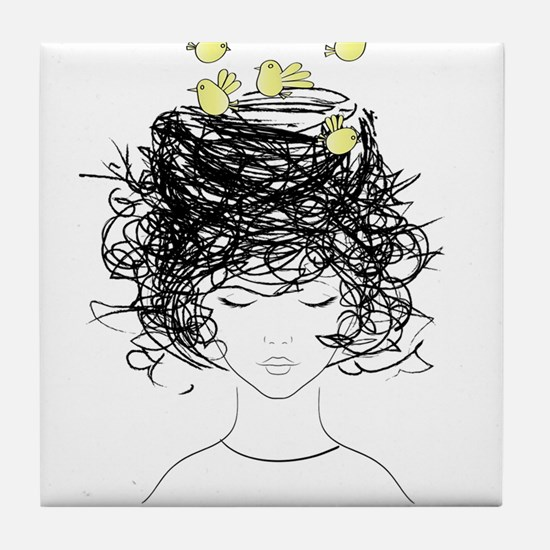 Bird's Nest Hair Tile Coaster