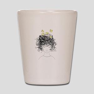 Bird's Nest Hair Shot Glass