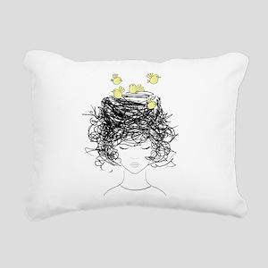 Bird's Nest Hair Rectangular Canvas Pillow