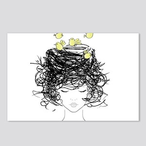 Bird's Nest Hair Postcards (Package of 8)
