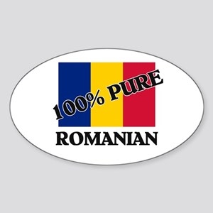 100 Percent ROMANIAN Oval Sticker