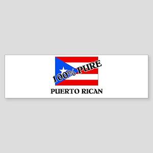 100 Percent PUERTO RICAN Bumper Sticker