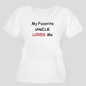 favorite uncl Women's Plus Size Scoop Neck T-Shirt