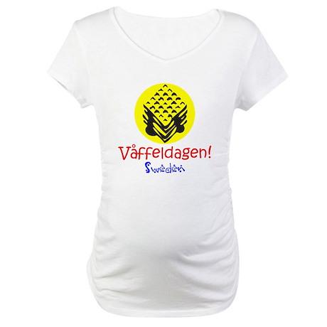 Swedish Waffle Day Maternity T-Shirt