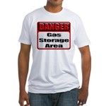 Gas Storage Area Fitted T-Shirt