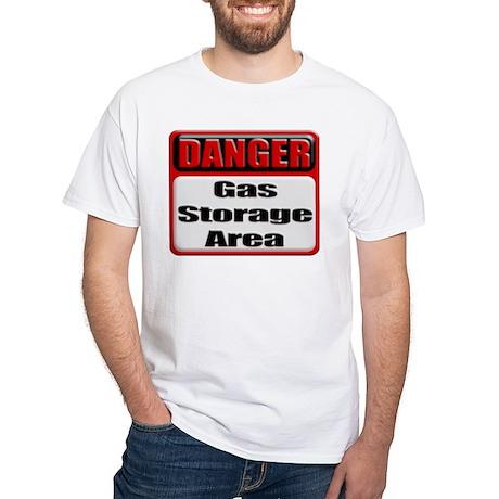 Gas Storage Area White T-Shirt