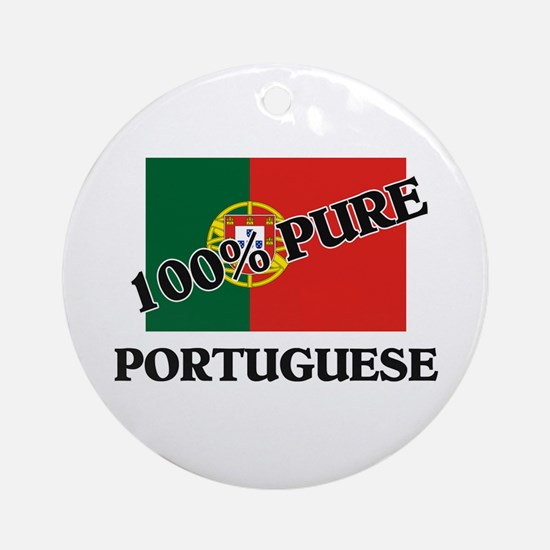 100 Percent PORTUGUESE Ornament (Round)