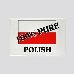 100 Percent POLISH Rectangle Magnet