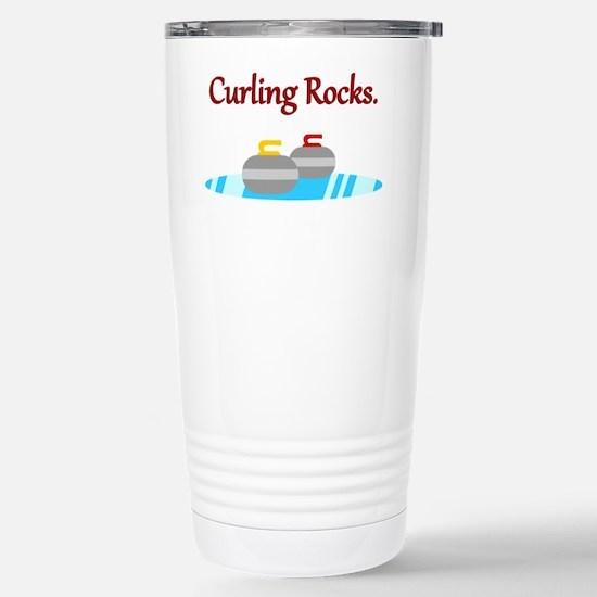 Cute Canadian curling Travel Mug