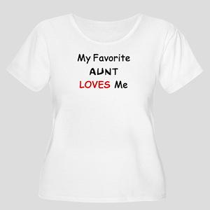 favorite aunt Women's Plus Size Scoop Neck T-Shirt