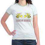 I Love My Boobees Jr. Ringer T-Shirt