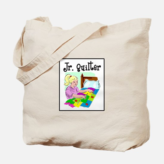 Future Quilter - Girl Sewing Tote Bag