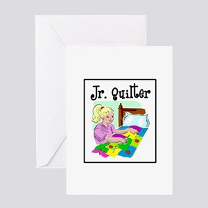 Future Quilter - Girl Sewing Greeting Card