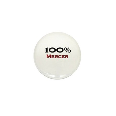 100 Percent Mercer Mini Button
