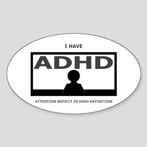 ADHD Oval Sticker