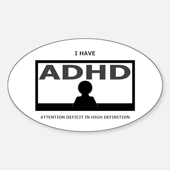 ADHD Oval Decal