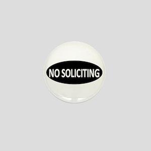 No Soliciting Mini Button