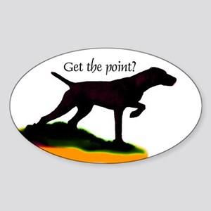 Vizsla shadow point Oval Sticker
