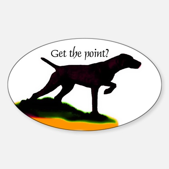 Vizsla shadow point Oval Decal