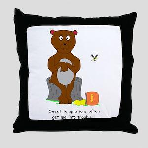 Honey Pot Bear Throw Pillow