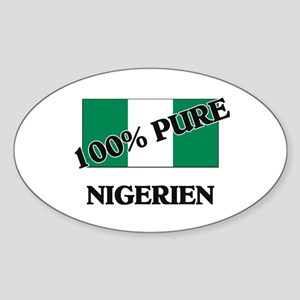 100 Percent NIGERIEN Oval Sticker
